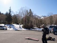 愛山渓温泉前で準備
