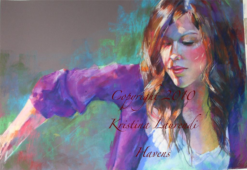 woman portrait in pastel
