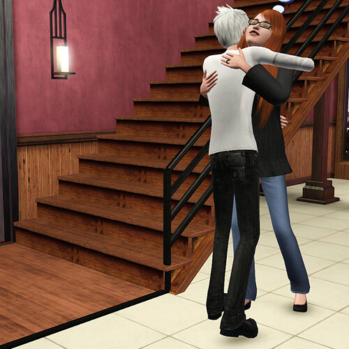 Nika hugs Ghost