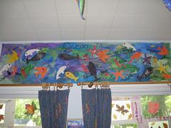 Preschool Art Show (Ocean mural)
