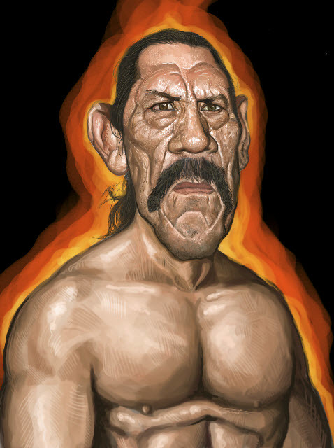 digital sketch of Danny Trejo - 8 small