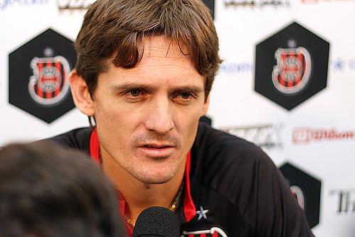 Márcio se apresentou ontem e já treina no Bento Freitas. Crédito; Carlos Insaurriaga