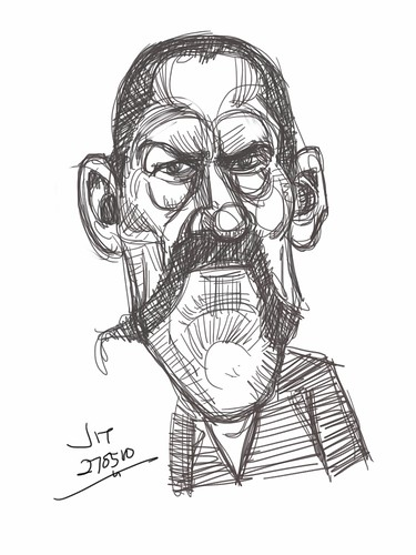 digital iPad sketch of Danny Trejo - 1