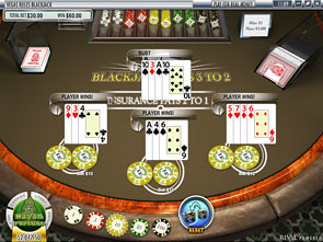 Vegas Rules Multi-Hand Blackjack