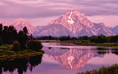 Oxbow Bend First Light (Jeff Clow) Tags: reflection nature water river landscape bravo searchthebest snakeriver wyoming mountmoran tetons grandtetonnationalpark oxbowbend jacksonholewyoming ©jeffrclow