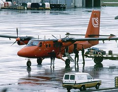 VP-FAW  Loganair (Gerry Hill) Tags: canada de airplane scotland colours glasgow aircraft twin aeroplane otter british 1980 survey propellor prestwick antarctic loganair havilland dhc6 dhc6300 vpfaw