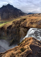 Above Skogafoss (Rob Kroenert) Tags: road mountain clouds landscape waterfall iceland europe ring southern skgafoss ringroad skogafoss skogar