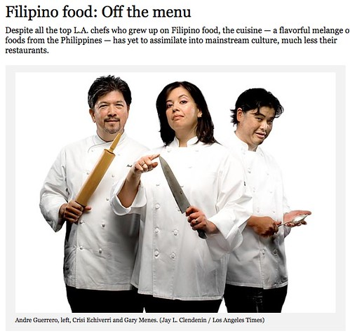 Filipino Food Off the Menu