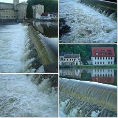 Wehranlage des Flusses Zschopau,aktuell(5.6.2010 gegen 7 Uhr)) (peterphot) Tags: morgens zschopau sachsenburg wehranlage
