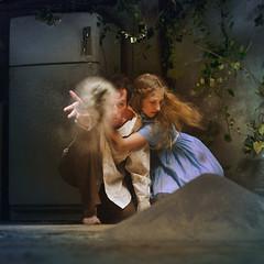 the children who burned her (brookeshaden) Tags: boy girl fairytale fridge vines witch ash hansel gretel selfie hanselandgretel brookeshaden garrettliggett
