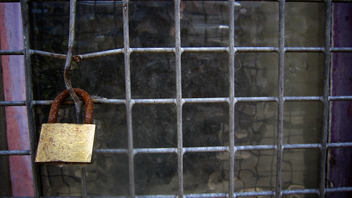 Padlocked Window