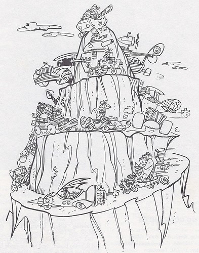 wacky races coloring pages - photo #5