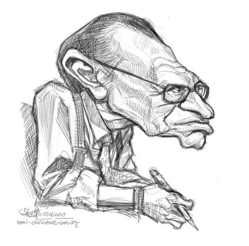 digital sketch of Larry King