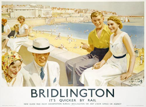 Bridlington travel poster