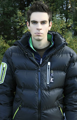 Timo Kohlenberg in down jacket (cast_tkohl) Tags: trees boy portrait white man black hot tree cute guy eye art boys face look fashion basketball shirt dark hair studio outside photography intense model eyes surf shoot arty looking lads shot surfer bad young style tshirt down guys surfing cutie jeans teen jacket skate blonde lad teenager skater hottie thin mad hairstyle nylon fit badboy younger loose teenie ecko downjacket skaterboy