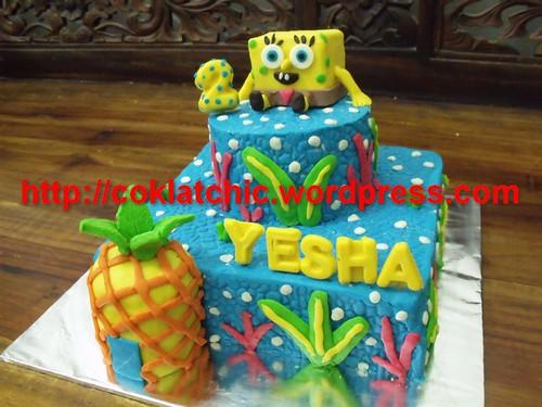 Spongebob Cake Yesha Coklatchic Cake