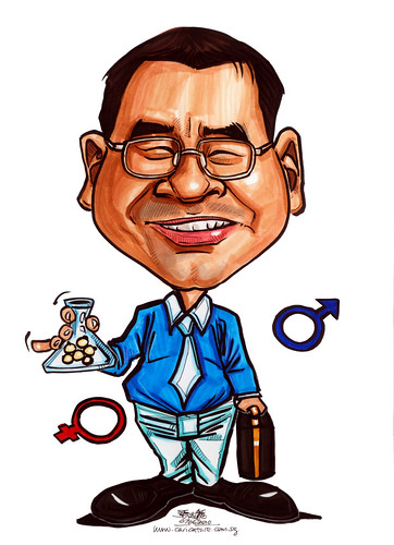Caricatures for NUS - Biogentics salesman