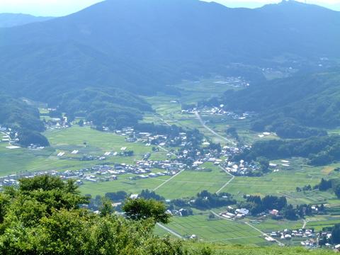 とてもなだらかな阿武隈高地の分水嶺(分水界)