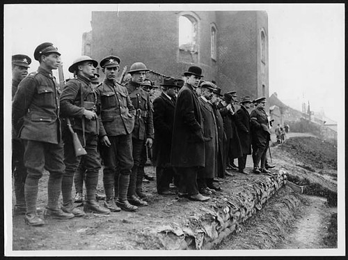 American Labour Representatives looking over battle-fields in France