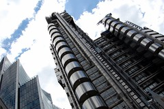 Leaning towers (Chaumurky) Tags: city london tower metal architecture skyscraper perspective futuristic towerblock squaremile