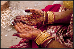Gold, Henna and Red.....Indian bride