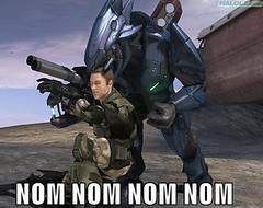 *Nom* *Nom* *Nom* (Vengeance of Lego) Tags: marine lego lol halo xbox 360 elite nom