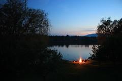 Lake Fire - East Kootenays, British Columbia (Petitecornichon) Tags: lake canada night fire still montana dusk britishcolumbia columbia east british kootenays elko fernie koocanusa baynes jaffray eastkootenays lpfire lp2011winners
