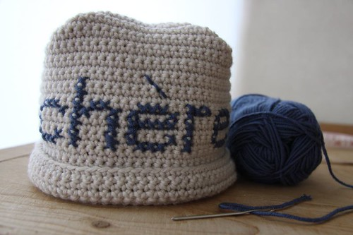 How to make a crochet & cross stitch beanie...