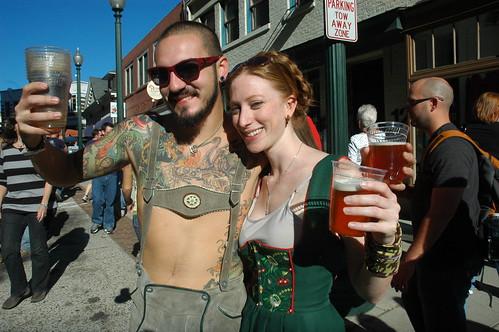 Oktoberfest 2010 drinkers