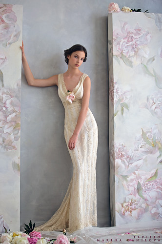 wedding dresses ivory -vintage looking