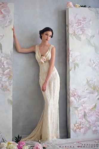 wedding dresses ivory -vintage looking