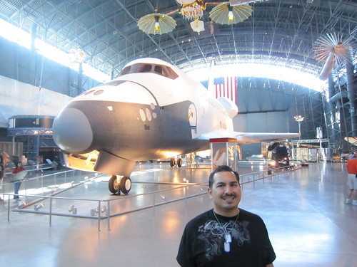 James and the Space Shuttle Enterprise. (10/12/2010)