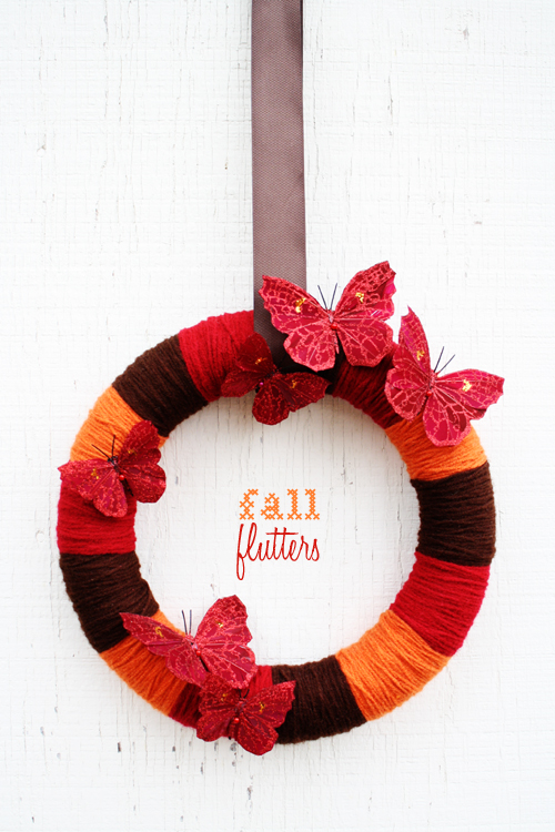 *fall flutters* wreath