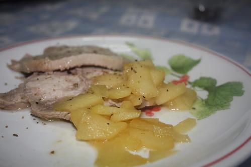 maiale con le mele