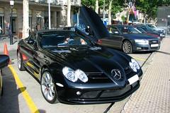 Mercedes SLR Mclaren Roadster (Pere Nubiola) Tags: barcelona slr car canon stars mercedes hotel is 5 powershot mclaren catalunya majestic s3 roadster