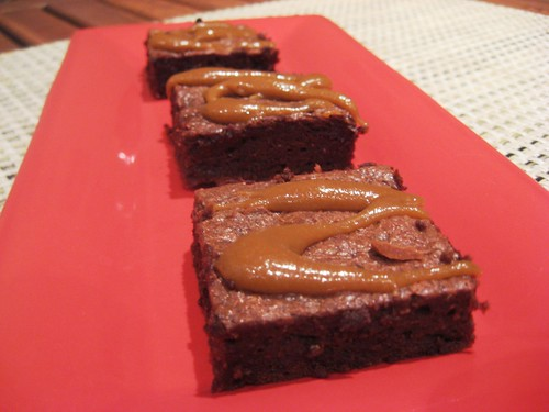 Low-Calorie Brownies With Butterscotch Drizzle