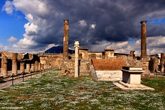 Storm Clouds Over Pompeii Archeological Ruins - Campania, Italy (Black Diamond Images) Tags: italy storm volcano landscapes europe campania mountvesuvius pompeii napoli naples 1770 archeology picnik stormclouds romanruins mtvesuvius europeanlandscapes sigma1770 heritagetour campaniaitaly pompeiiruins europeanheritage insightvacations cloudsstormssunsetssunrises europeantrip2010 volcanicclouds europeanheritagetour pompeiiarcheologicalsite itallianvolcanoes brendonlampard