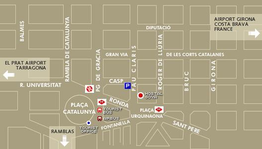 Mapa Hostal Goya