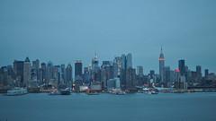 NYC (mgphotographie) Tags: new york nyc blue apple night big manhattan hour esb