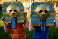 Pharaoh mummy masks- complete!