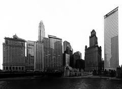 Mid-Town CIty (Jovan Jimenez) Tags: sony ilce a6500 emount 12mm f28 6500 zeiss carl touit chicago black white gray mono monochromatic monochrome distagon hdr pano panoramic panorama landscape city scape cityscape widy river walk autopano autopanopro auto giga pixel kolor nik collection silver pro efex architecture architectural building alpha