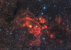 Lobster Nebula - NGC 6357 (Delberson Tiago) Tags: astronomy astrophotography universe nightsky night sky nebulae nebulosa astrofoto astrofotografia milkyway vialactea cosmos qhy optolong oriontelescopes deepsky dso