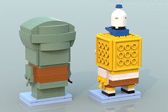 BrickHeadz: SpongeBob & Squidward (Back) (Unijob Lindo) Tags: lego leg godt spongebob squarepants sponge bob squidward tentacles competition brickset brickheadz brick headz bricks cartoon nickelodeon ldd digital designer blue render bluerender patrick star schwammkopf tadeus tentakel thaddaus thaddäus thaddeus tennisballs tortellini nick mr krabs contest funko funkopop pop culture collectibles klocki yellow slope slopes snot studs top spatula clarinet nose squid goggly eyes heads tiny small krusty krab
