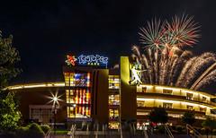 Fireworks Isotopes Park (single) (G.E.Condit) Tags: gecondit grantcondit albuquerque fireworks isotopes baseball 4thofjuly stadium 6d night neon architecture celebration holiday usa america