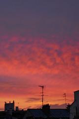 Vivid sunset over Paris rooftops (Monceau) Tags: red sunset vivid rooftops paris
