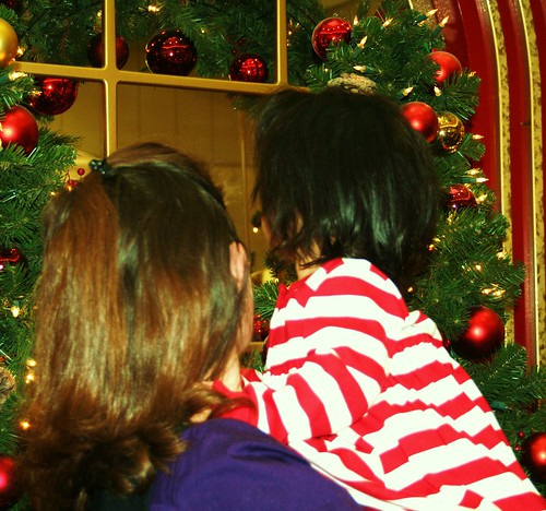 LOOKING AT SANTA