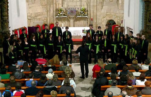 """CONCIERTO DE NAVIDAD DEL CORO """"ÁNGEL BARJA JJMM-ULE - IGLESIA DE SAN MARTÍN 23.12.09"""