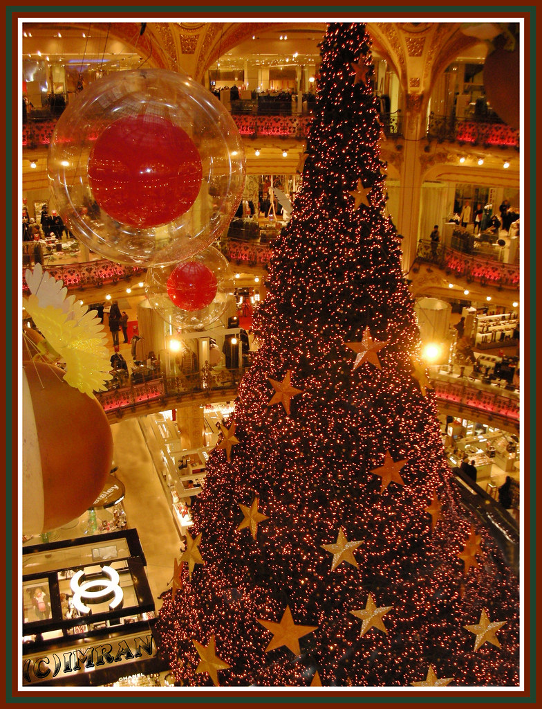 Have A Ball Above Towering Tree(ts) - IMRAN™ - Merry Christmas & Happy Holidays