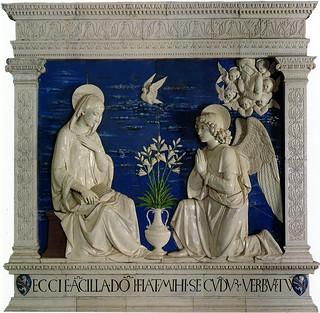 Andrea della Robbia, Annunciazione, 1475 ca. La Verna, Chiesa Maggiore, Cappella Niccolini