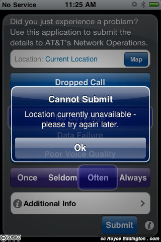 AT&T iPhone Error Reporting 2